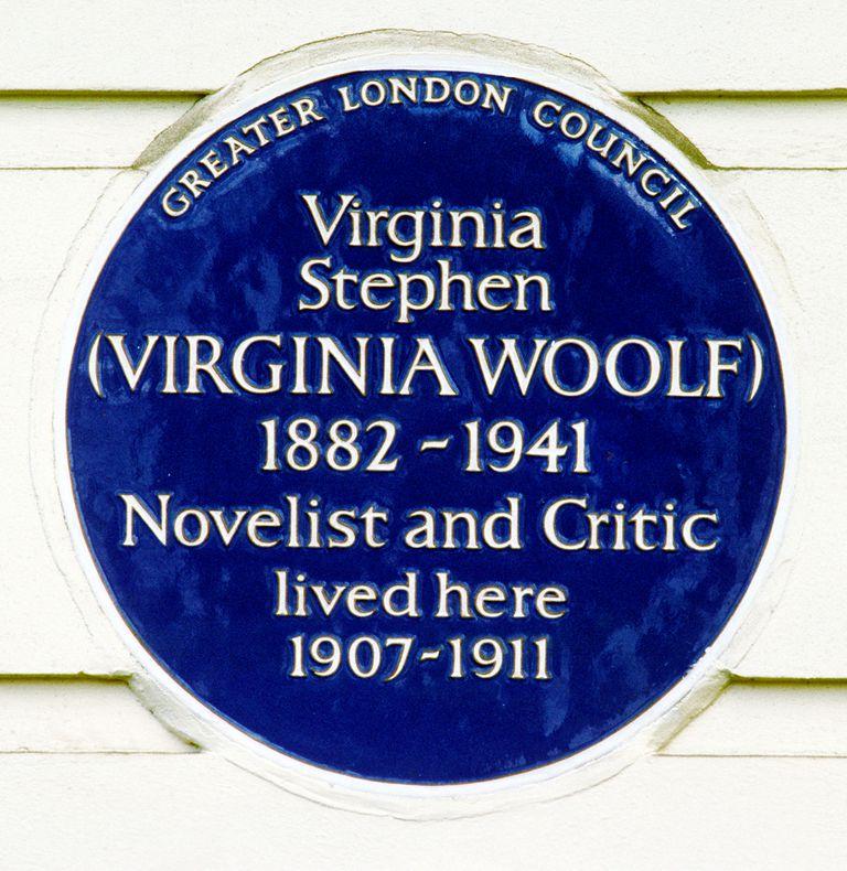 Blue Plaque, Virginia Woolf, English novelist, 29 Fitzroy Square, London
