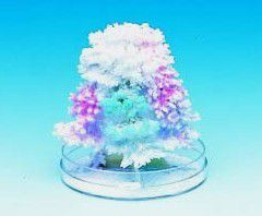 A magic crystal tree grows crystal leaves as if by magic.