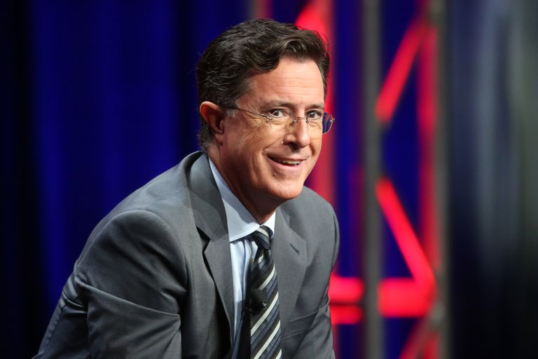 Talk show host Stephen Colbert