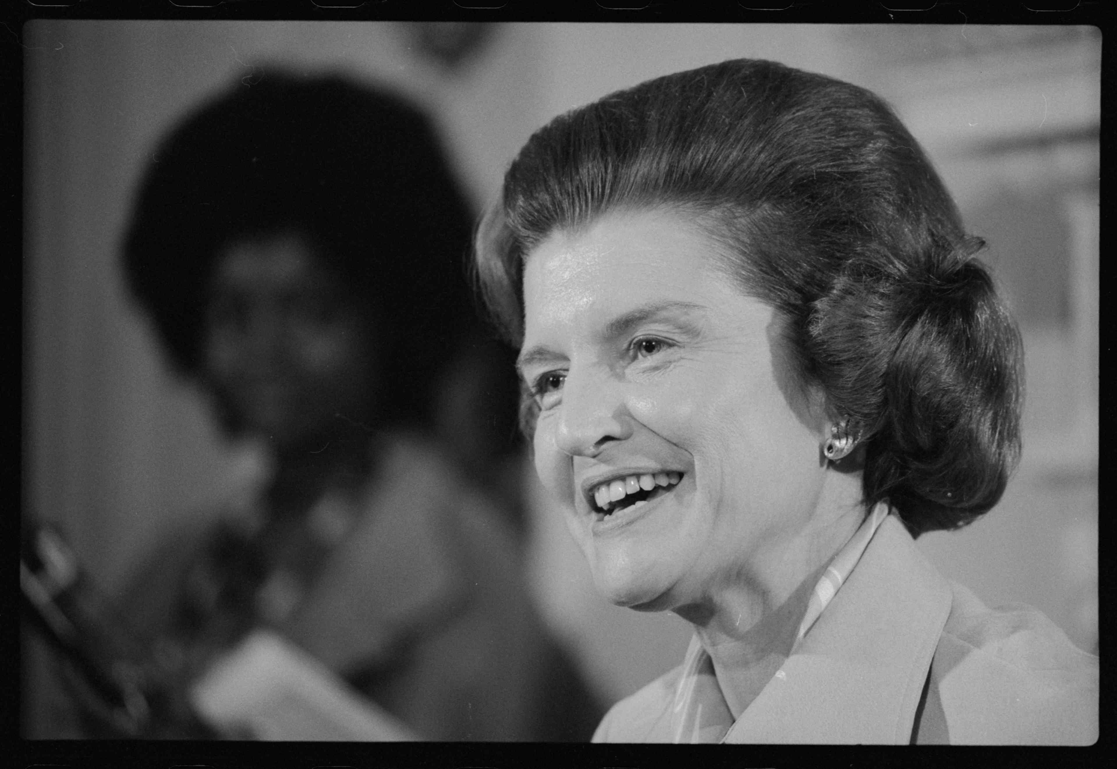 First Lady Betty Ford at a Press Conference