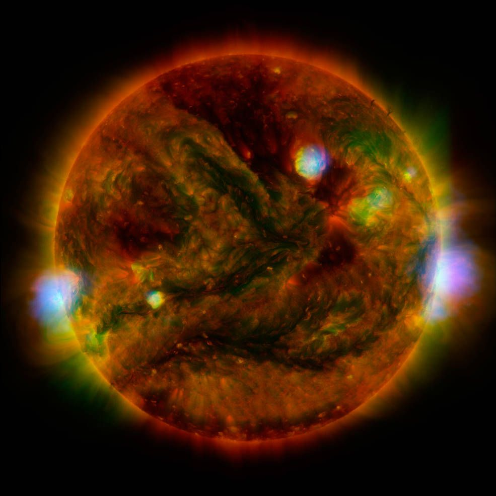 The Sun in x-rays.