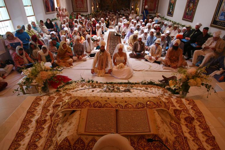 Sikh Bride and Groom During Their Wedding Ceremony