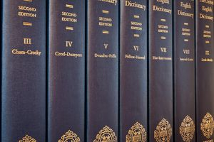 Volumes of the Second Edition of the Oxford English Dictionary