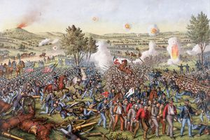 The Battle of Gettysburg in 1863