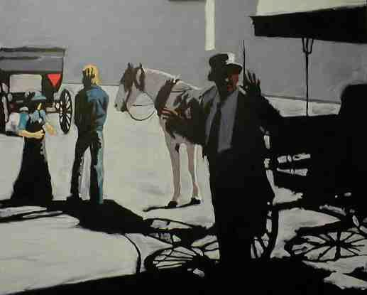 "Jim Meaders Painting ""Shadow Rides"""