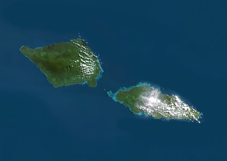 Samoa, True Color Satellite Image