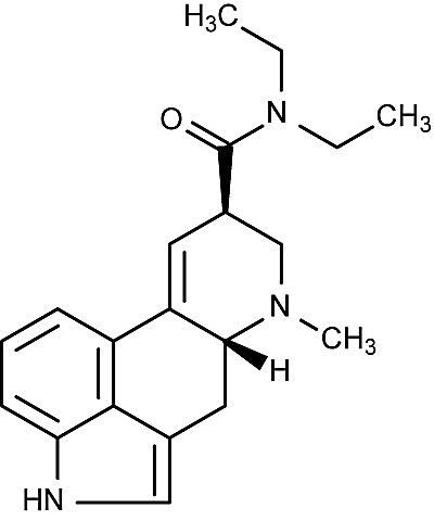 This is the chemical structure of lysergic acid diethylamide or LSD.