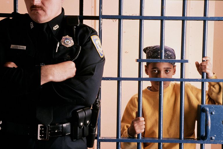 Boy Behind Bars