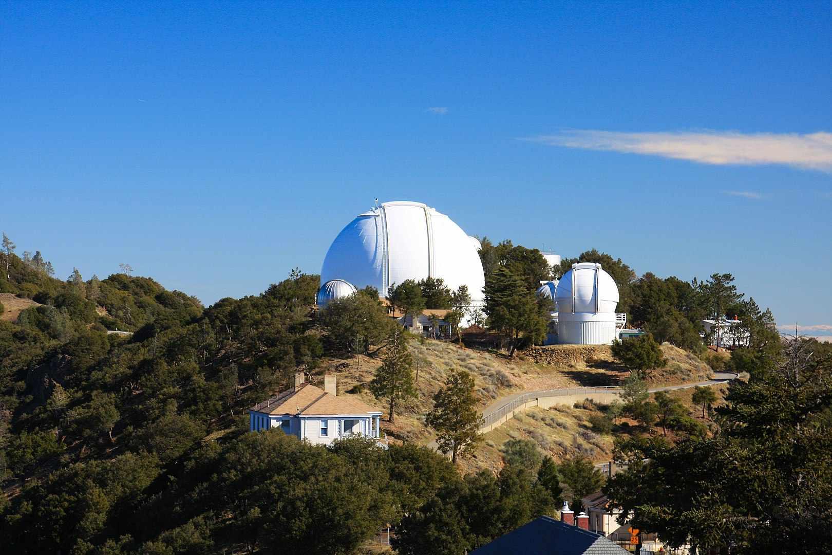 Lick Observatory at UC SantaCruz on a sunny day.