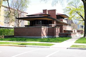 The Frederick C. Robie House, designed by Frank Lloyd Wright, 1910