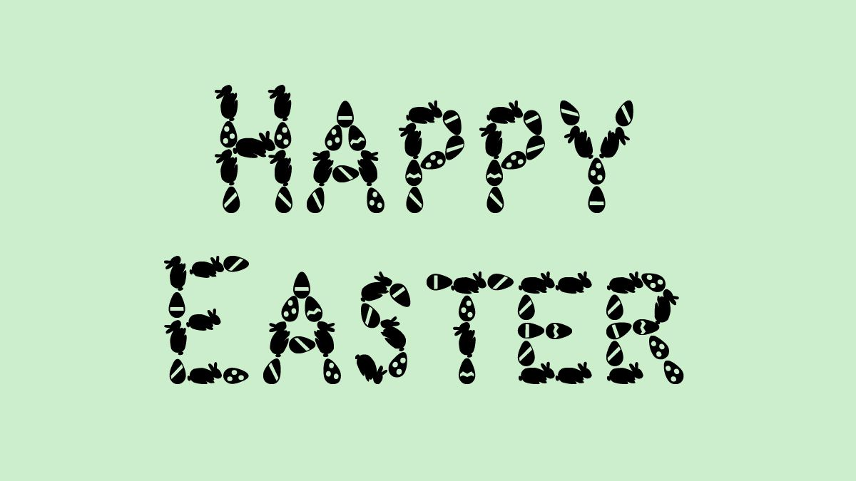 Happy Easter in Easter Bunny font