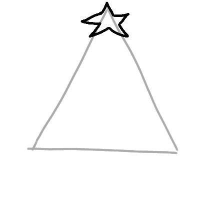 begin drawing a christmas tree - How To Draw A Christmas Tree Step By Step