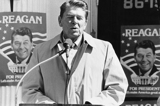 Reagan At New York Primary