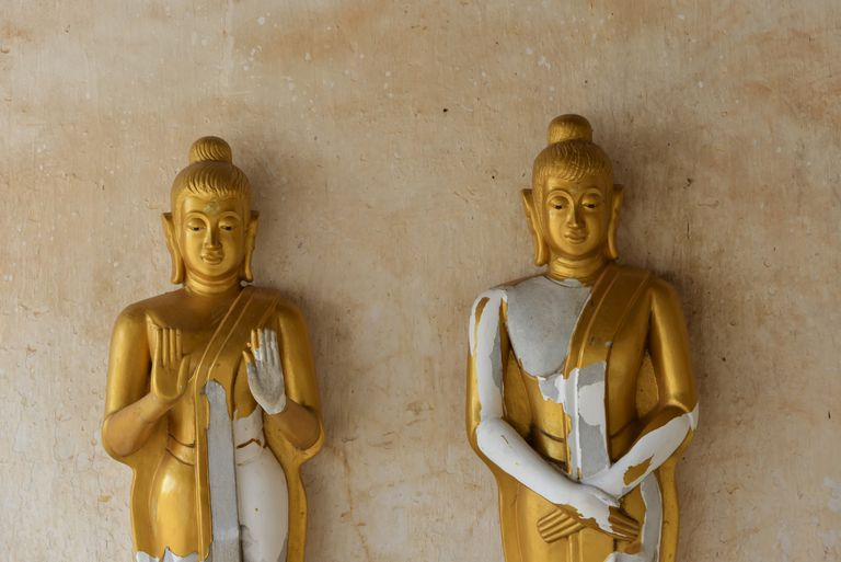 Two Buddhas in Laos