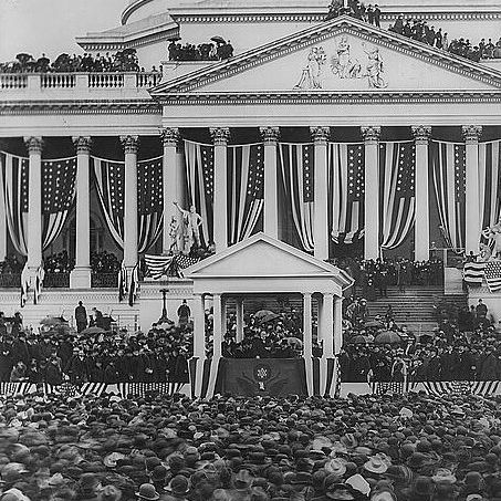 William McKinley Giving His Inaugural Address in 1901.