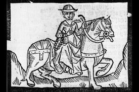 Illustration of the Wife of Bath from Chaucer's
