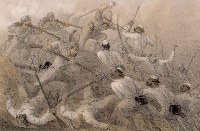 Bitter fighting in the 1857 revolt.