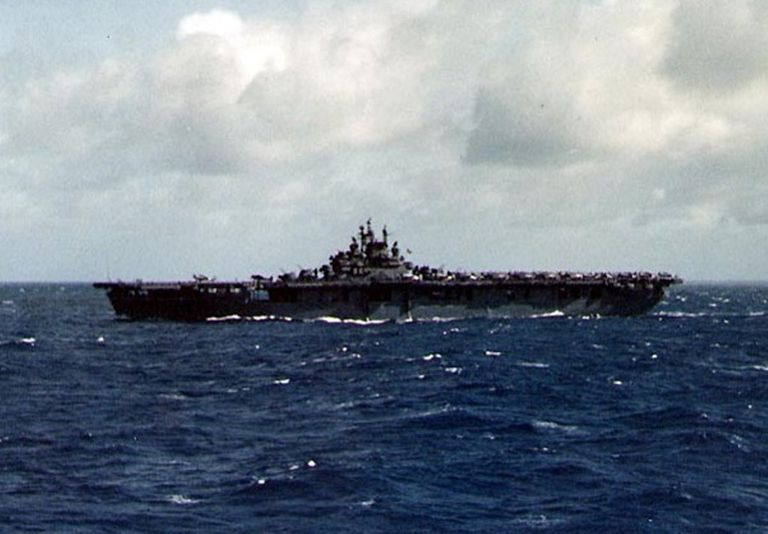 USS Lexington (CV-16) in the Pacific