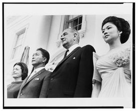 The Marcoses and Johnsons at the White House in 1966