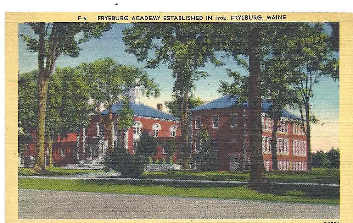 Antique Fryeburg Academy Postcard