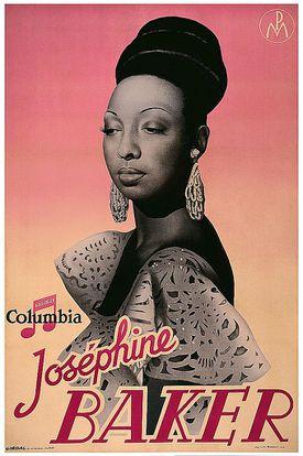 Poster of Josephine Baker, 1945