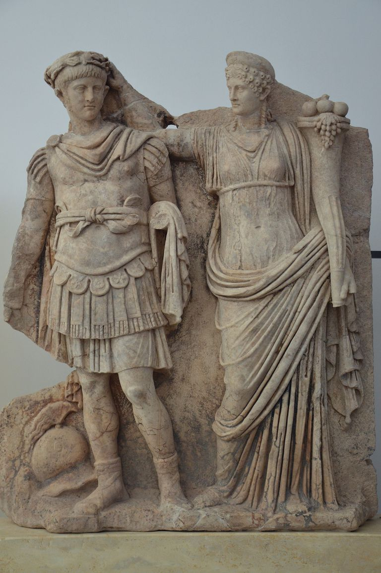 Relief from the Sebasteion depicting Nero and Agrippina, Aphrodisias Museum, Turkey