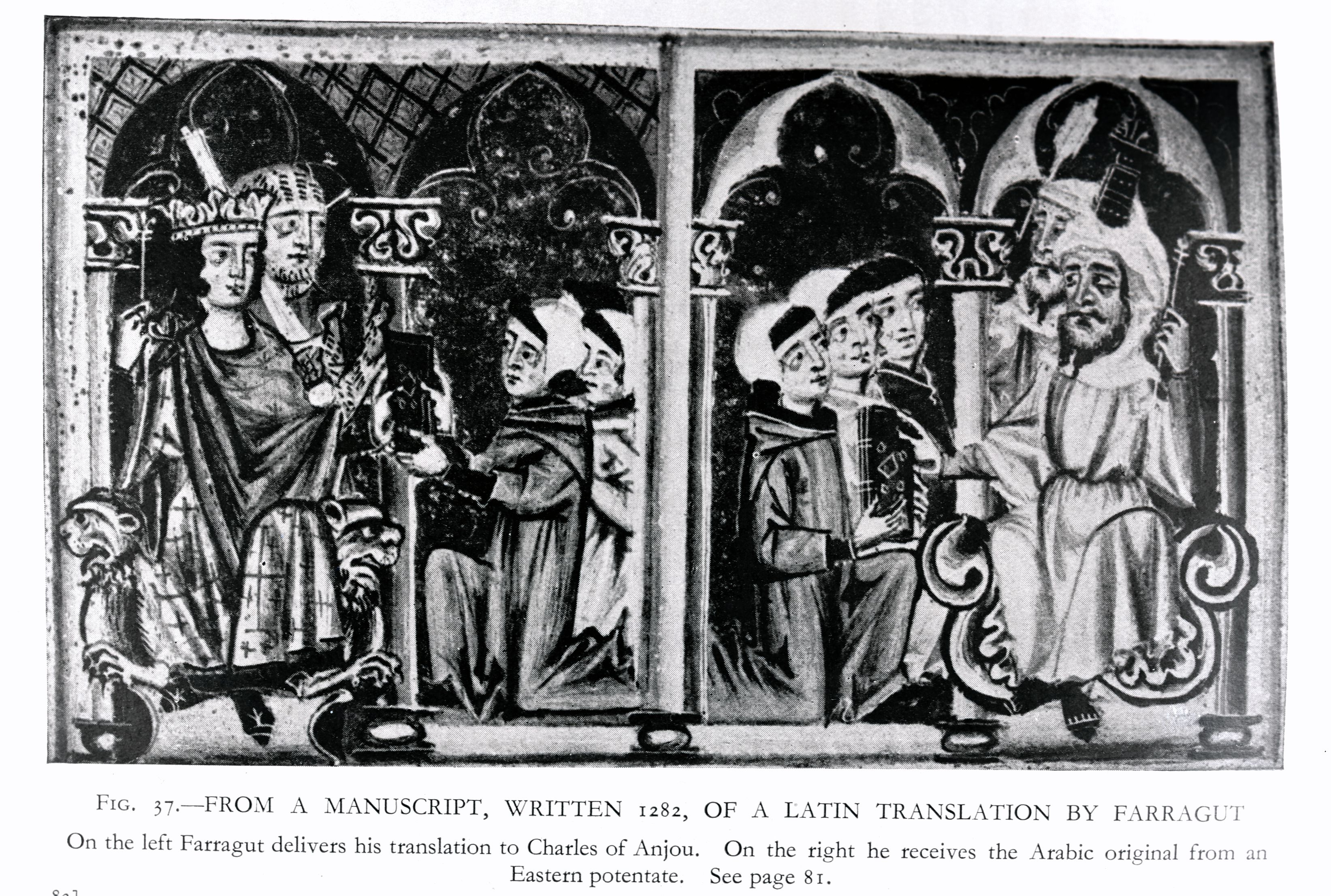 Farragut Delivering Manuscript to Charles of Anjou