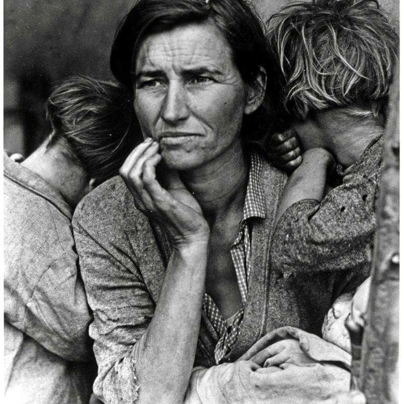 Madre migratoria, Nipomo, California, fotografía de Dorothea Lange