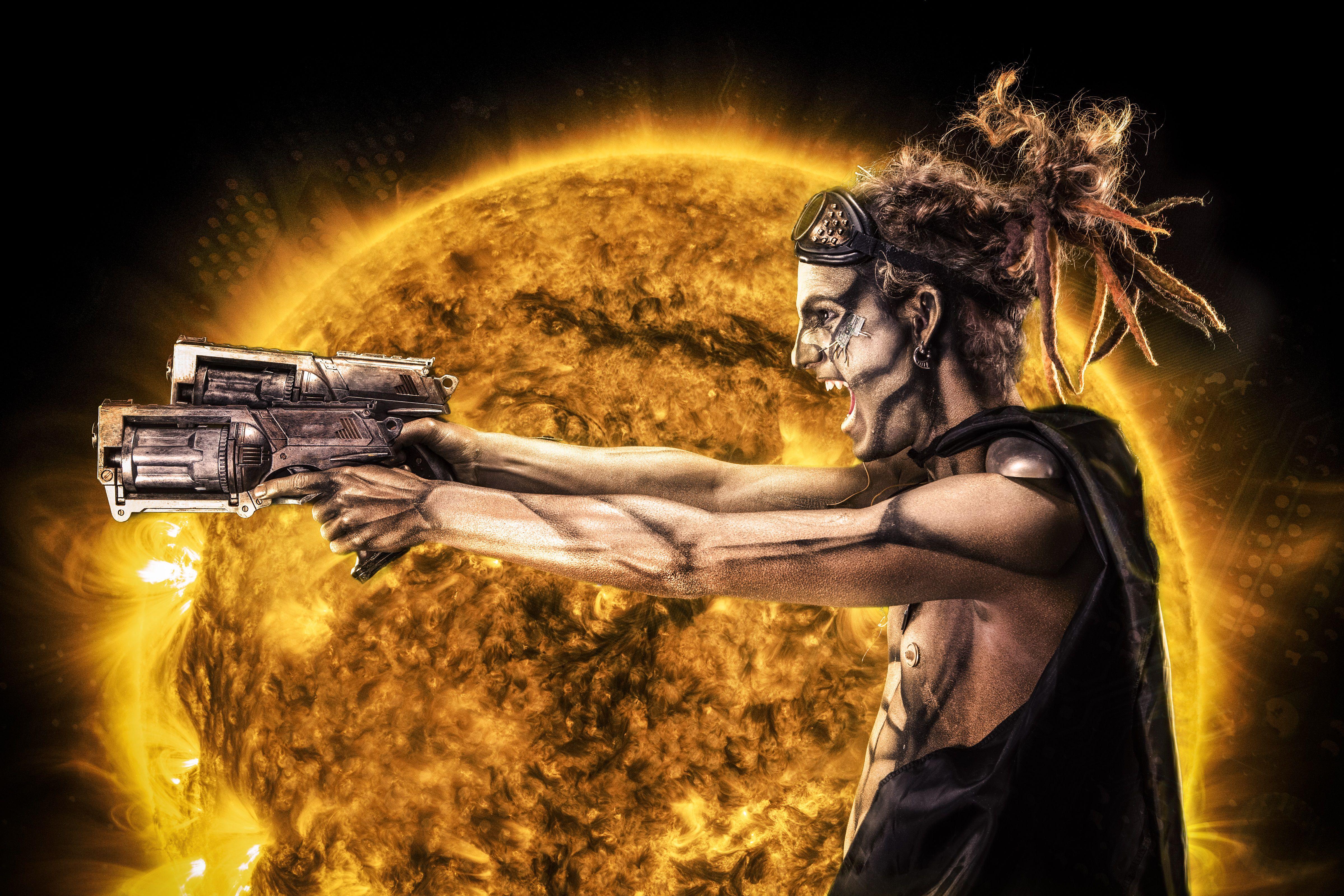 Steampunk Cyborg Warrior Eclipse