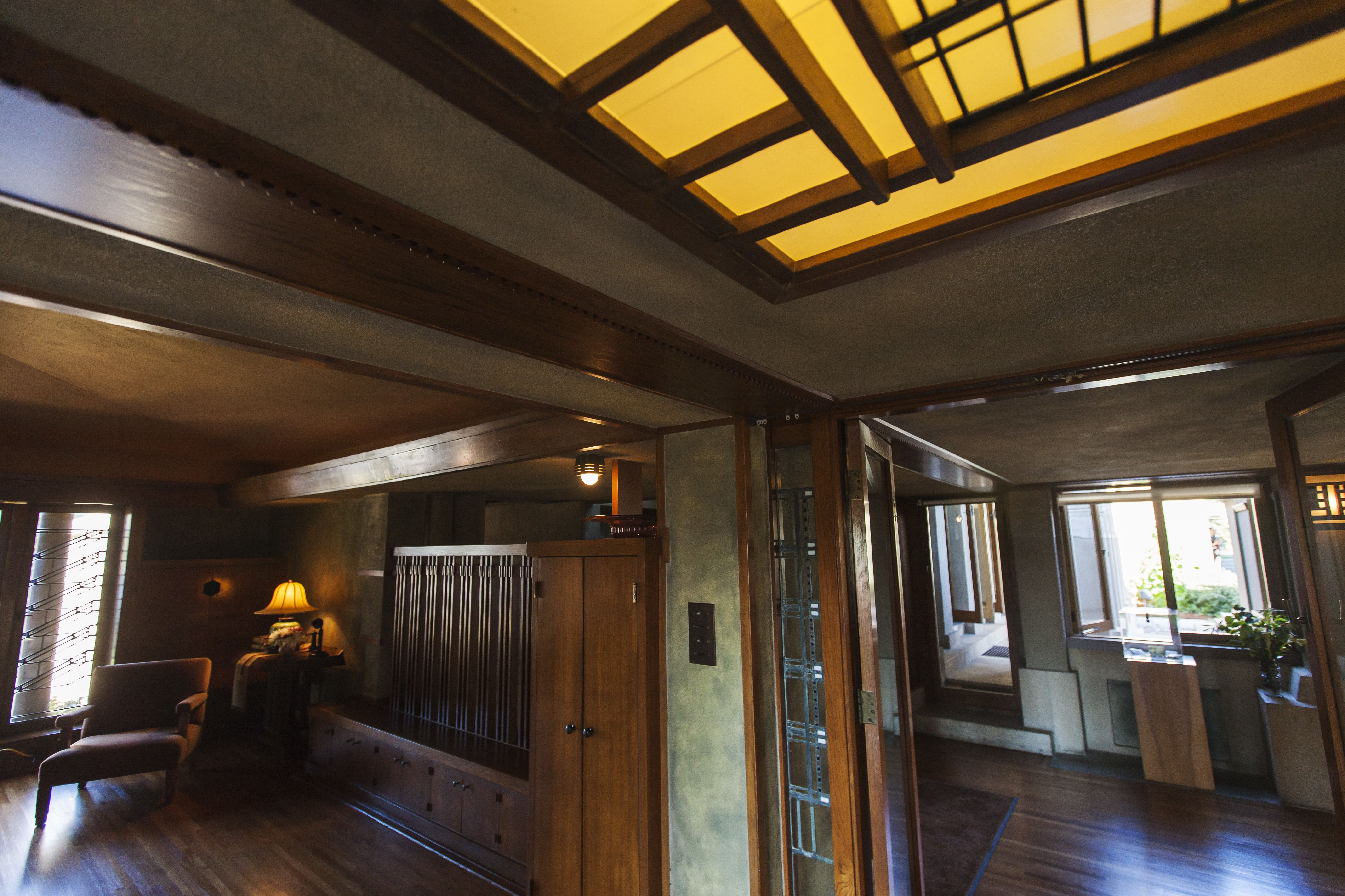 Interior Of Frank Lloyd Wright S Hollyhock House 1921 Built For Aline Barnsdall In Southern