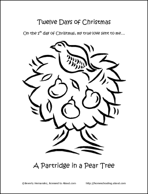 12 days of christmas coloring pages Make Your Own 12 Days of Christmas Coloring Book 12 days of christmas coloring pages