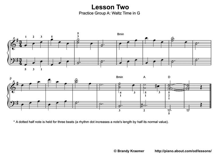 Piano practice song in G.