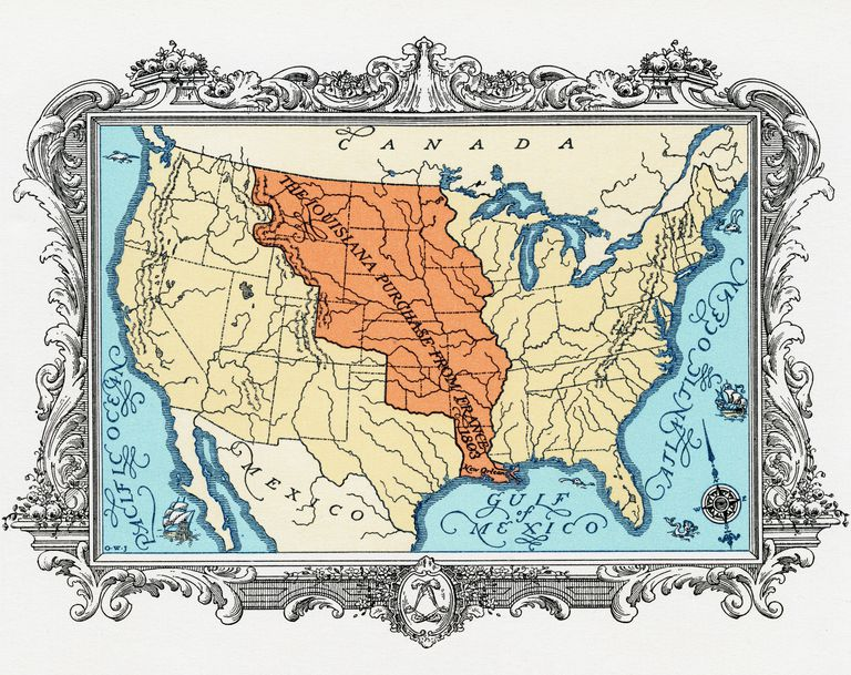 Map Of Louisiana Territory.Thomas Jefferson And The Louisiana Purchase