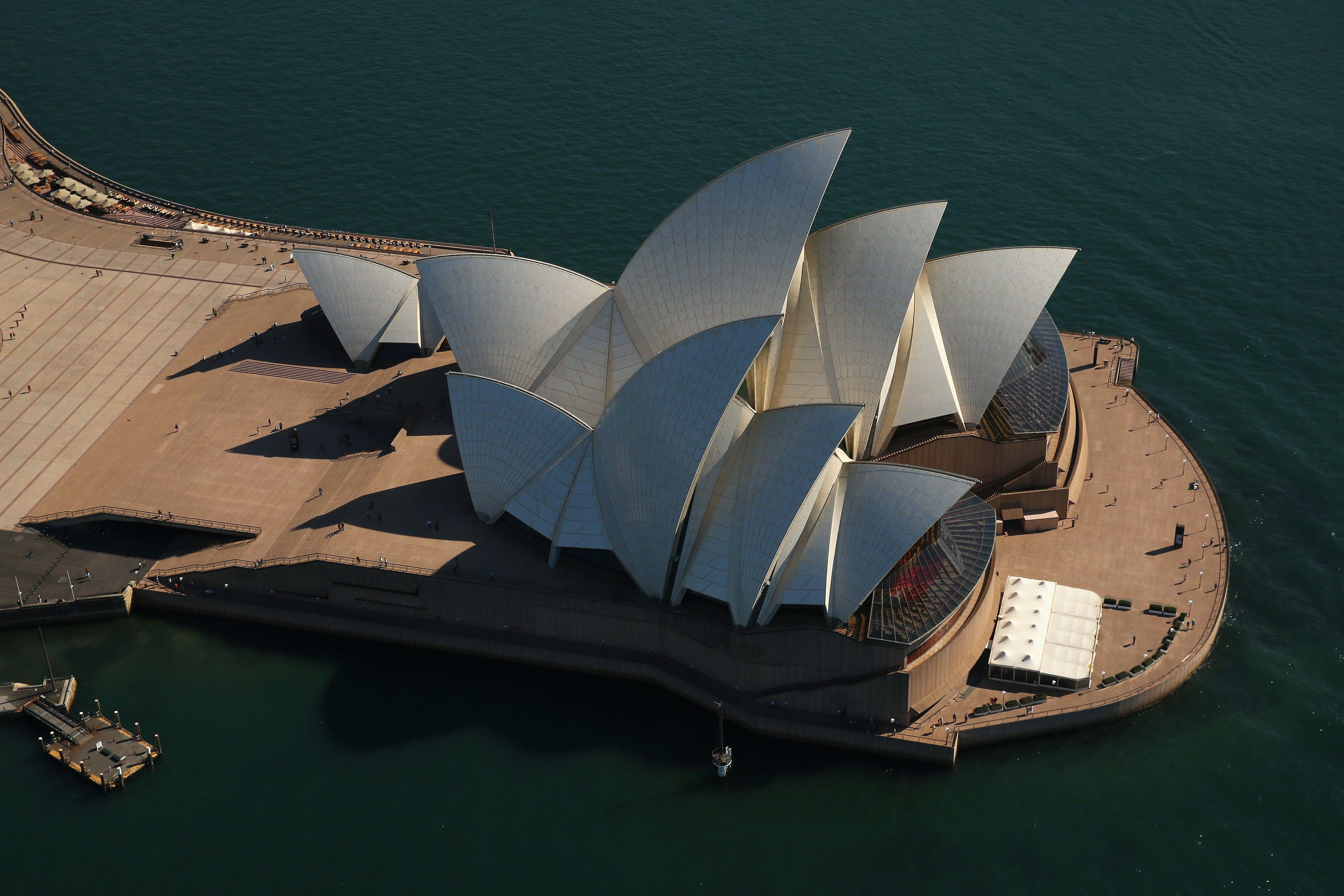 Overhead view of the Sydney Opera House, Australia