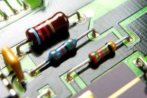 Resistors on a computer circuit board