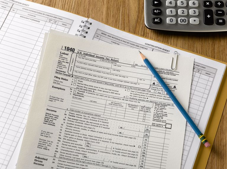United States 1040 tax forms