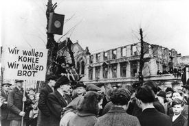 Germans protesting during the disastrous food situation in the winter of 1947