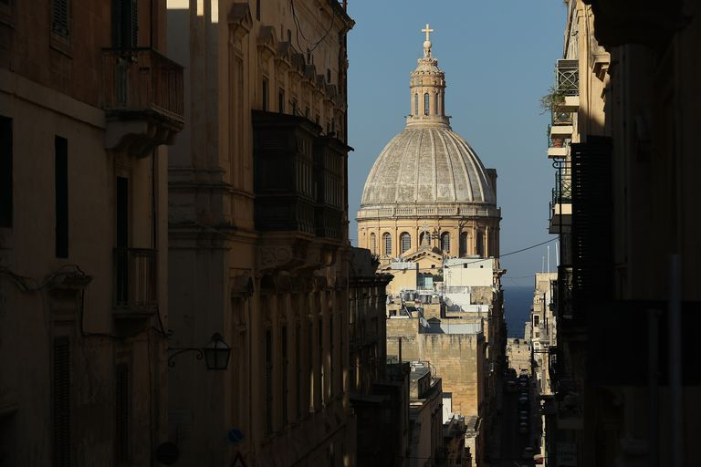 The Basilica of Our Lady of Mount Carmel on Malta.
