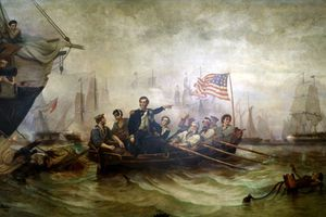 Oliver H. Perry at the Battle of Lake Erie