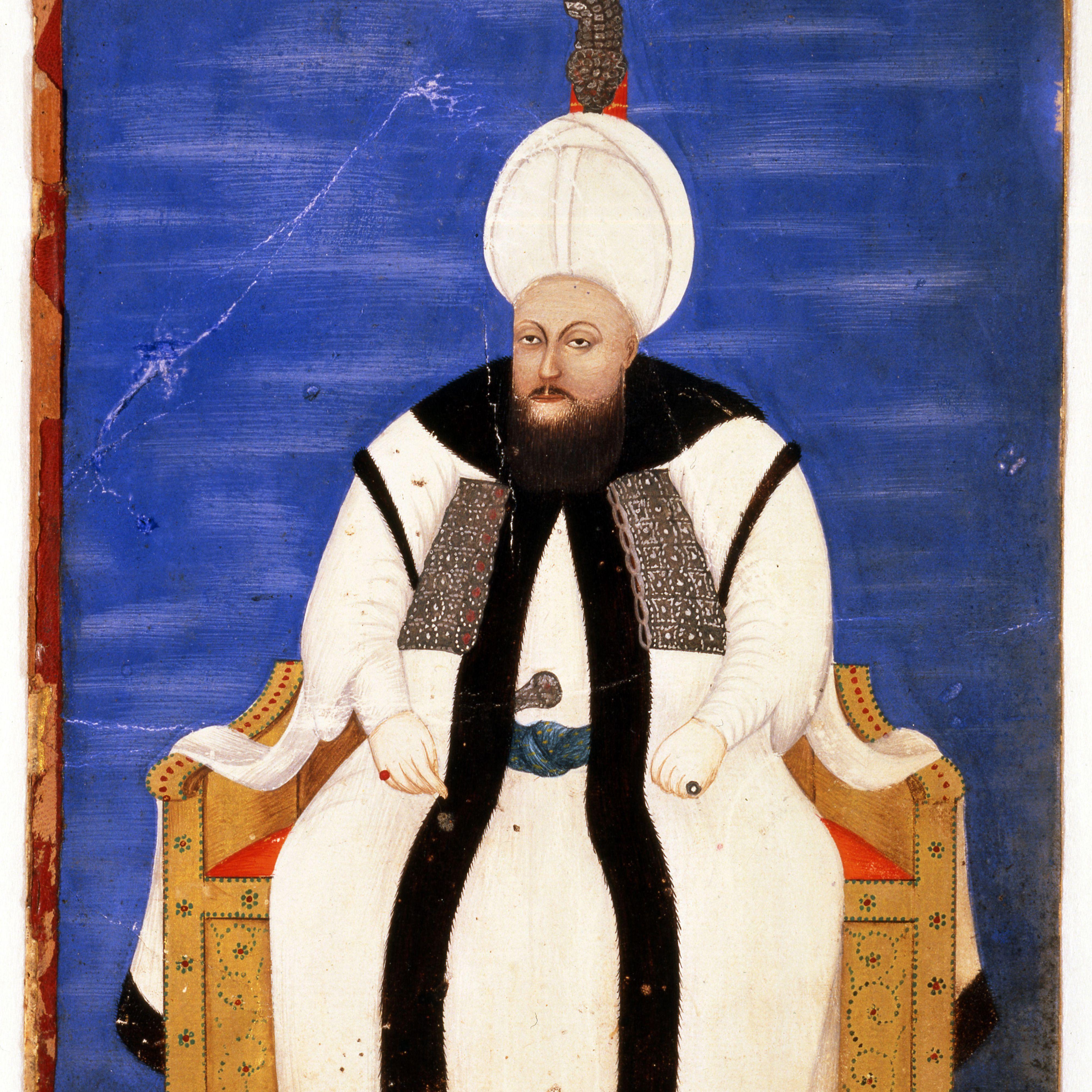 Portrait of Sultan Mustafa III (1757-1774), Second Half of the 18th cen.. Artist: Turkish master