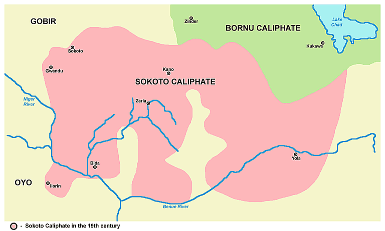 Map of Sokoto caliphate