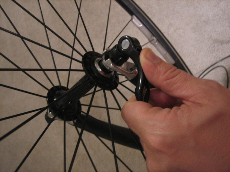 Remove the wheel from your bike.