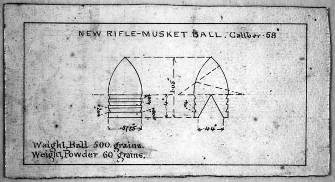 Minie ball bullet design