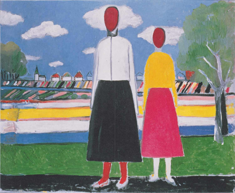kazimir malevich two women in a landscape