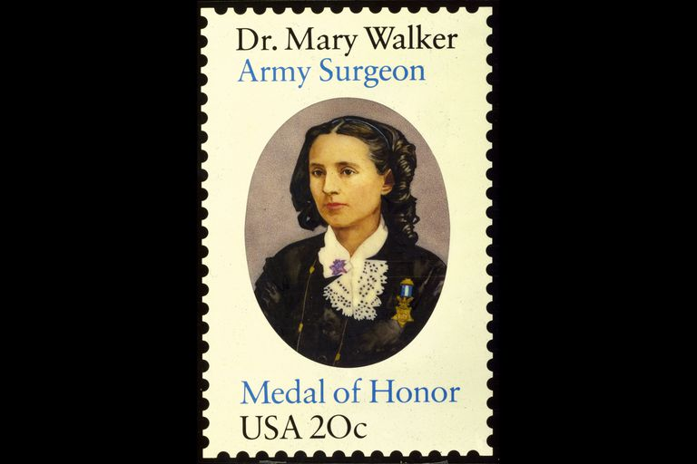 Mary Walker on a stamp