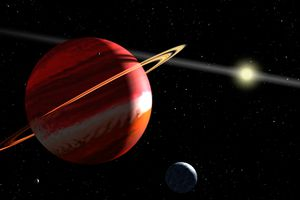 Epsilon Eridani Planet - Artist's Concept of Nearest Exoplanet to Our Solar System Around Epsilon Eridani
