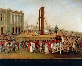 The Execution Of Marie Antoinette On October 16 1793 Late 18th Cent