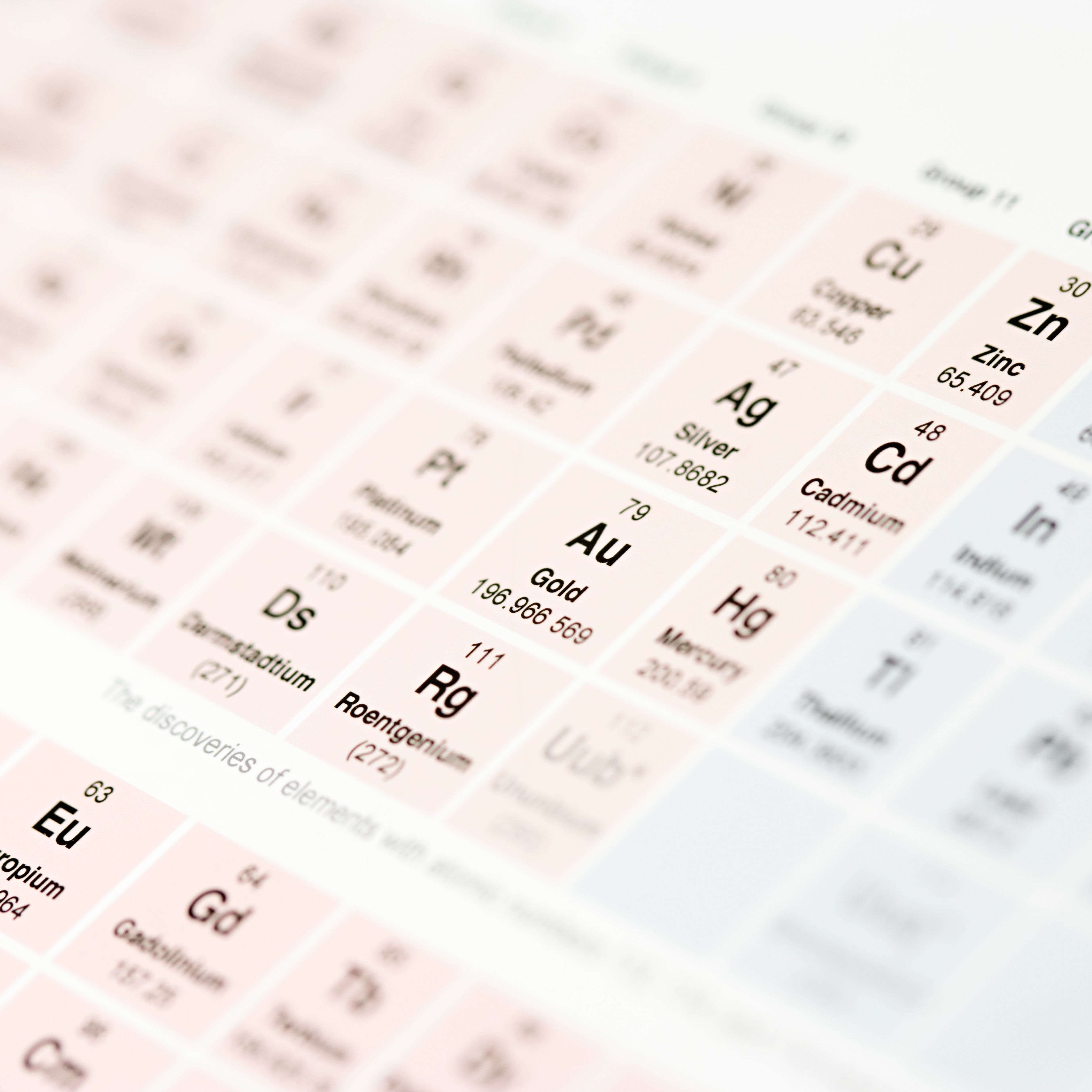 Adult Cd Universe list of naturally occurring elements