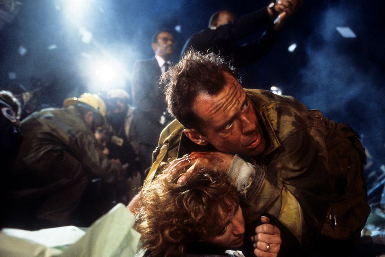 Bonnie Bedelia and Bruce Willis in a still from