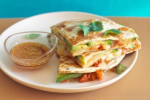 Plate of quesadillas